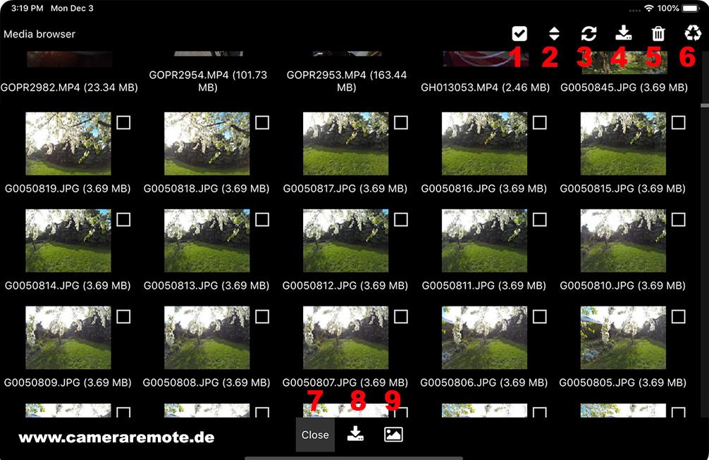 Media browser mobile version